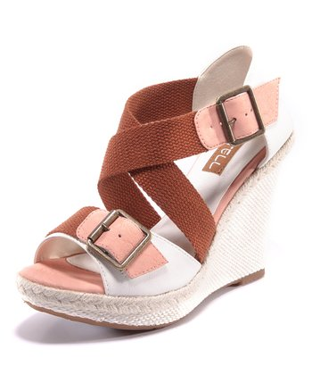 Blush & White Carina Buckle Sandal