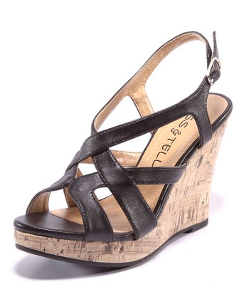 Black Carina Wedge Sandal