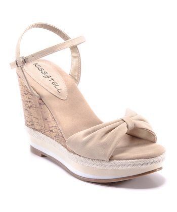 Beige Eliana Wedge