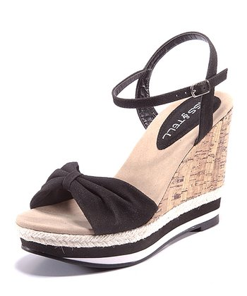 Black & Beige Eliana Wedge
