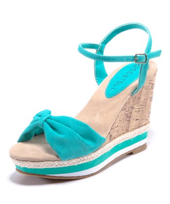 Mint & Beige Eliana Wedge