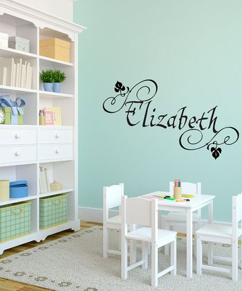 Black Elizabethan Personalized Wall Decal