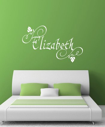 White Elizabethan Personalized Wall Decal