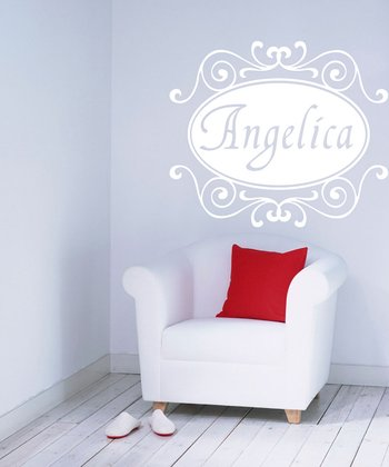White Florence Personalized Wall Decal