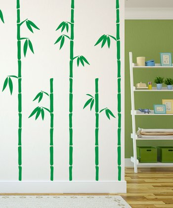 Green Bamboo Wall Decal Set