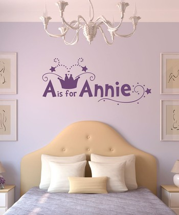 Lavender Crown Personalized Wall Decal Set