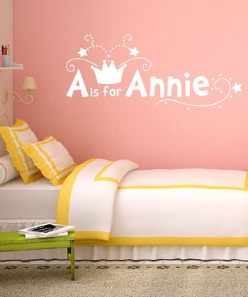 White Crown Personalized Wall Decal Set