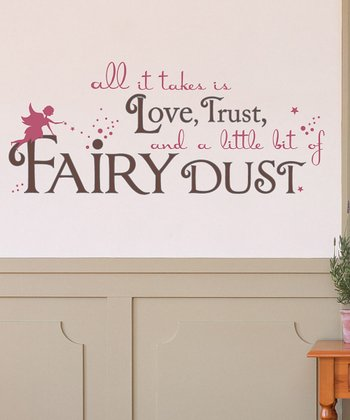 Brown 'Fairy Dust' Wall Decal Set