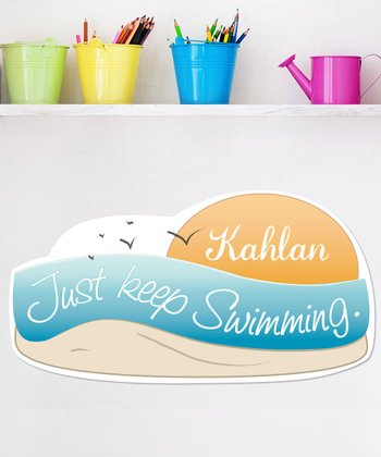 Personalized 'Just Keep Swimming' Wall Art