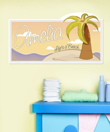 Personalized 'Life's a Beach' Wall Art