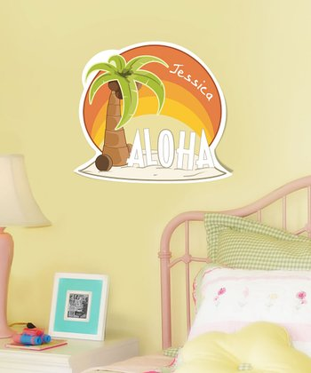 Personalized Palm Tree 'Aloha!' Wall Art