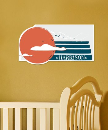 Personalized Retro Sun Wall Art