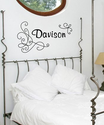 Black Charming Personalized Wall Decal Set