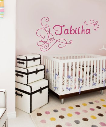 Pink Charming Personalized Wall Decal