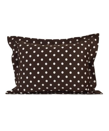 Brown & White Polka Dot Sham