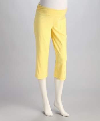 Lemoncello Under-Belly Maternity Capri Pants