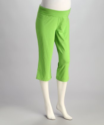 Pepperlime Under-Belly Maternity Capri Pants