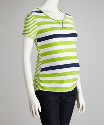 Pepperlime Stripe Maternity Tee