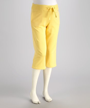 Lemoncello Maternity Capri Sweatpants