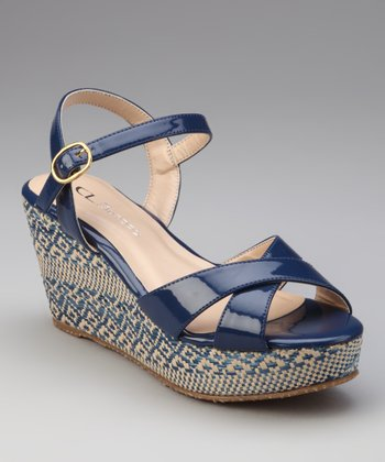 Moon Blue Duet Wedge