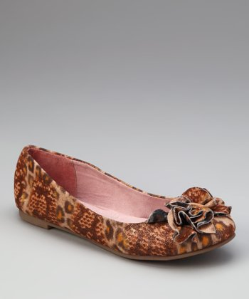 Orange & Brown Leopard Go Ahead Flat