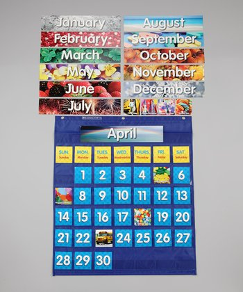 Monthly Calendar Pocket Chart Set