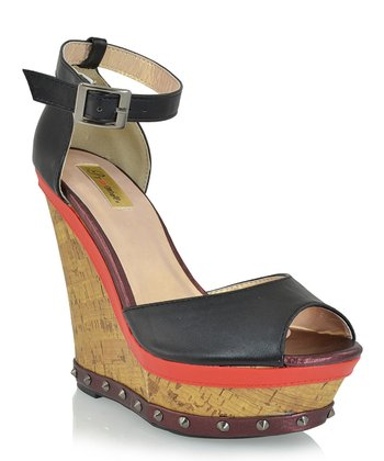 Black Akofi Wedge