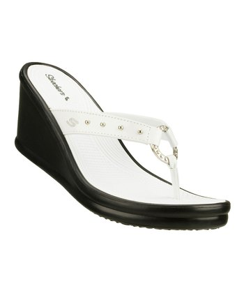 White & Black Kitty Wedge