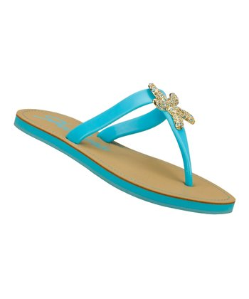 Blue Color Pop Flip-Flop