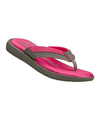 Gray & Pink Good Memory Sandal