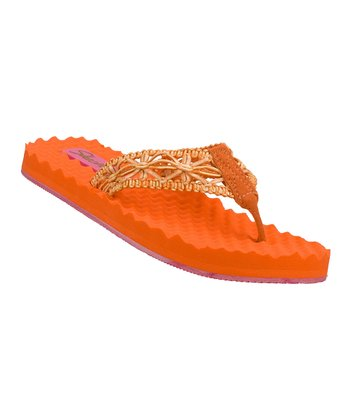 Orange Sea Bree Flip-Flop