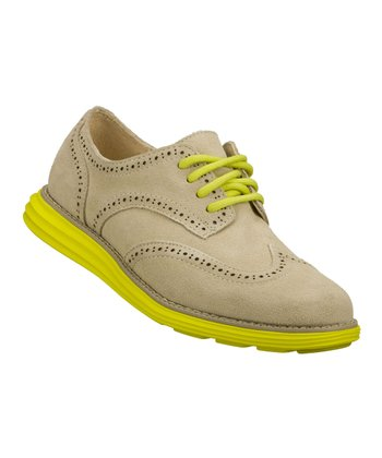 Natural Suede Groove Lite Oxford