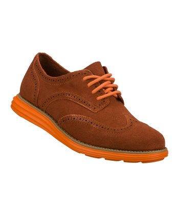 Red Suede Groove Lite Oxford