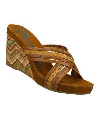 Brown Waverly Wedge Sandal