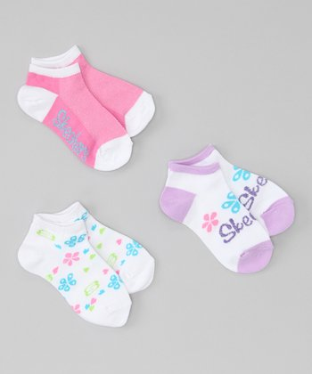 Pink Fashion No-Show Socks Set
