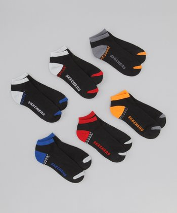 Black Racer No-Show Socks Set