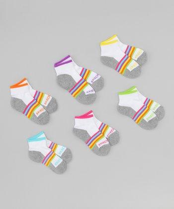 Rainbow Quarter Socks Set