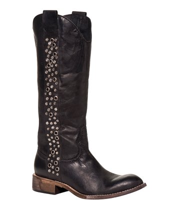 Black Avery Cowboy Boot