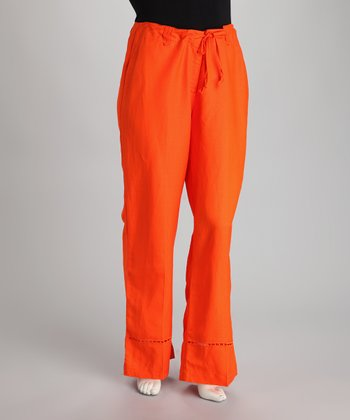 Lava Cutout Linen-Blend Plus-Size Lounge Pants