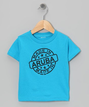 Turquoise 'Made in Aruba' Tee - Toddler & Kids