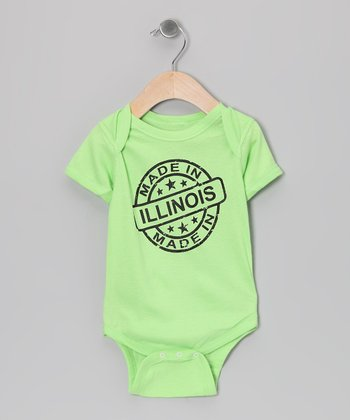 Key Lime 'Made in Illinois' Bodysuit - Infant