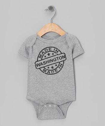 Athletic Heather 'Made in Washington' Bodysuit - Infant