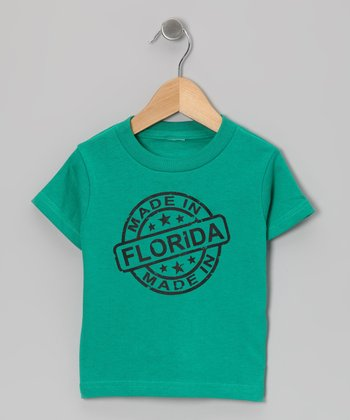 Kelly Green 'Made in Florida' Tee - Toddler & Kids