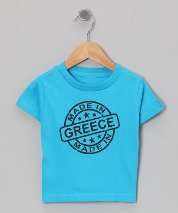 Turquoise 'Made in Greece' Tee - Toddler & Kids