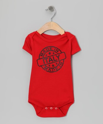 Red 'Made in Italy' Bodysuit - Infant