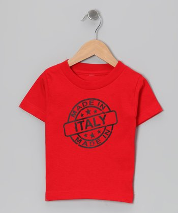 Red 'Made in Italy' Tee - Toddler & Kids