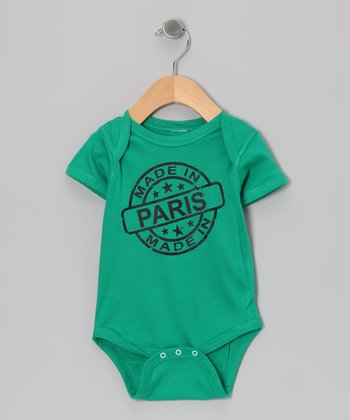 Kelly Green 'Made in Paris' Bodysuit - Infant
