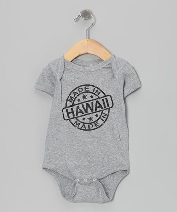 Athletic Heather 'Made in Hawaii' Bodysuit - Infant