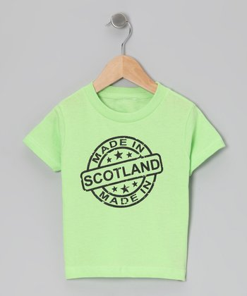 Key Lime 'Made in Scotland' Tee - Toddler & Kids