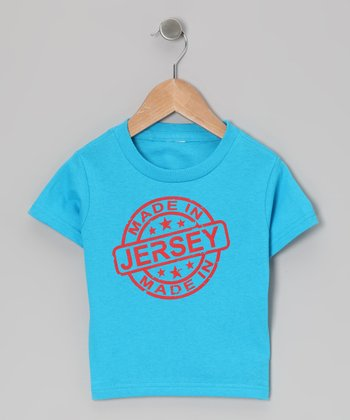 Turquoise 'Made in Jersey' Tee - Toddler & Kids
